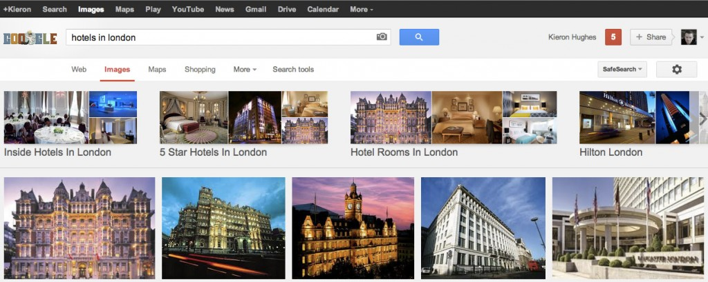 Google Images Categorisation - Hotel Searches