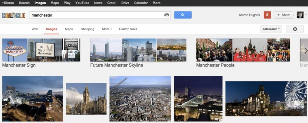 Google Images Categorisation Update - Manchester Search Results