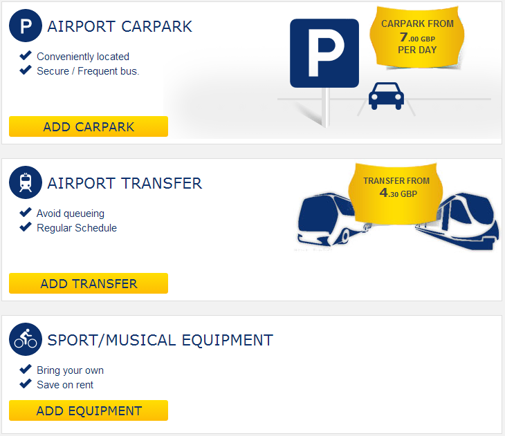 Ryanair Booking Process - Adding Airport Transports - November 2013