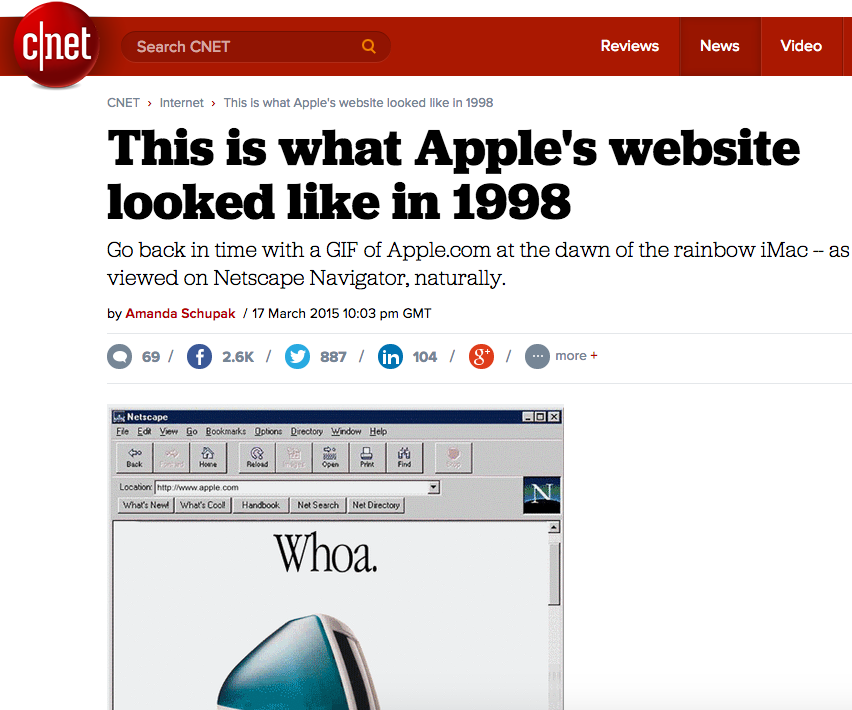 Relive the 1990s web